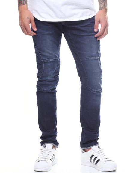 SMOKE RISE - Moto Jean w Stitch Knee Detail