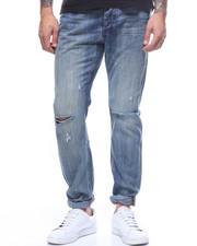 Global Movement Mens - BLUE SUEDE MR WHITES jean