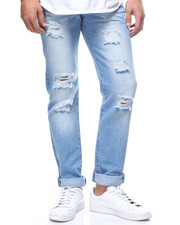 Straight - BLOWN OUT RIPPED JEANS