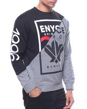 Pullover Sweatshirts - Color Block Crew Sweatshirt