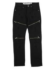 Sizes 8-20 - Big Kids - Fashion Moto Twill Jeans (8-20)