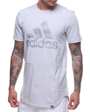 Adidas - BADGE OF SPORT STRIPED BURNOUT TEE