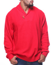 Pullover Sweatshirts - Novelty Stitch Shawl Pullover Sweater (B&T)-2165801