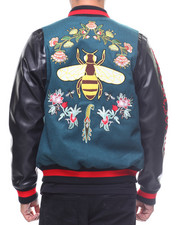 Hudson NYC - FLORAL BEE VARSITY JACKET