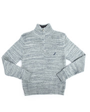 Nautica - Quarter Zip Stripe Sweater (8-20)