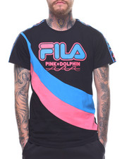 Pink Dolphin - PINK DOLPHIN X FILA HERITAGE C/S TAPE TEE