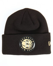 NBA, MLB, NFL Gear - Brooklyn Nets Beveled Cuffed Knit Hat
