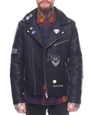 Leather Jackets - Ramones PU Moto Jacket