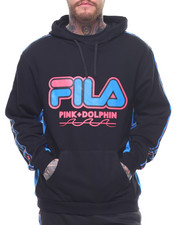 winter-2017-mens - PINK DOLPHIN X FILA HERITAGE TAPE HOODIE