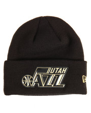 NBA, MLB, NFL Gear - Utah Jazz Beveled Cuffed Knit Hat