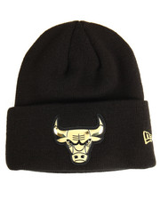 NBA, MLB, NFL Gear - Chicago Bulls Beveled Cuffed Knit Hat