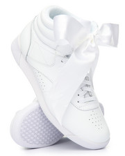 Reebok - Freestyle Hi Satin Bow Sneakers