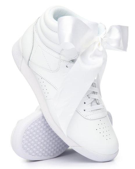 1b1c1a93e55e70 Buy Freestyle Hi Satin Bow Sneakers Women s Footwear from Reebok ...