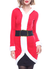 Women - Hooded Santa Dress