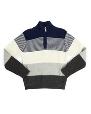 Nautica - Quarter Zip Colorblock Sweater (4-7)