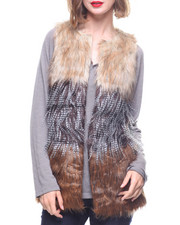 Sleeveless - Faux Fur Vest-2167363