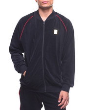 Men - Velour Piping Zip Front Jacket-2167930