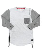 T-Shirts - Zipper & Pocket Tee (4-7)