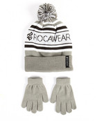 Knit Pom Pom Hat & Gloves Set
