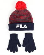 Knit Hat & Gloves Set