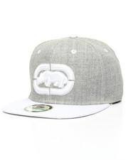 Hats - Heather Contrast Visor Snapback Hat