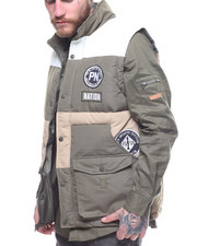 Outerwear - Colorblock Puff Vest