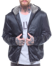 Men - SHERPA NYLON HOODED JACKET