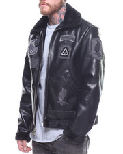 Leather Jackets - Night Strike Shearling Jacket-2168894
