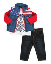 Akademiks - 3 Piece Puff Vest Set (Infant)