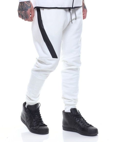 Basic Essentials - Side - Zip Tech Fleece Joggers