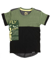 T-Shirts - S/S Contrast Crew Neck Tee (4-7)