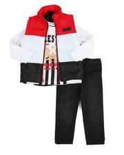 Akademiks - 3 Piece Puff Vest Set (2T-4T)