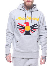 Parish - Flocked Eagle LS Hoody