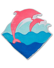 Pink Dolphin - Waves Pillow