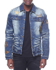 Outerwear - MILITARY PATCH DENIM JACKET
