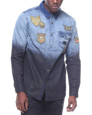 Buyers Picks - MILITARY PATCH L/S DENIM SHIRT