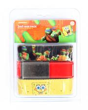 Boys - TMNT/Spongebob 3 Pack Web Belts