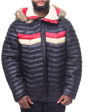 Outerwear - Fur Hooded Padded Jacket (B&T)