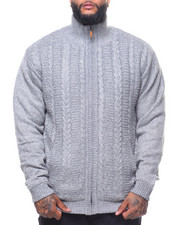 Sweatshirts & Sweaters - Full Zip Sherpa Lined Sweater (B&T)