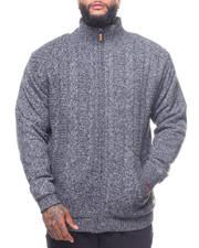 Sweaters - Full Zip Sherpa Lined Sweater (B&T)