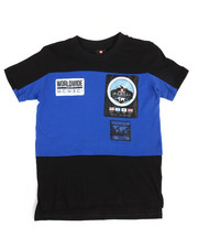 Southpole - S/S Cut & Sew Patch Tee (8-20)