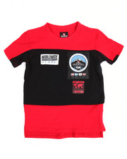 T-Shirts - S/S Cut & Sew Patch Tee (4-7)