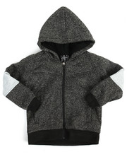 Arcade Styles - Color Block Marled Fleece Hoodie (4-7)