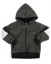 Arcade Styles - Color Block Marled Fleece Hoodie (2T-4T)