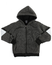 Arcade Styles - Color Block Marled Fleece Hoodie (8-20)