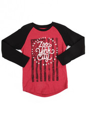 T-Shirts - Long Raglan Sleeve Banner Tee (8-20)