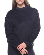 Sweaters - Fabric Block Crew Sweatshirt