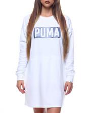 Dresses - Fusion Crew Sweatshirt Dress-2171005