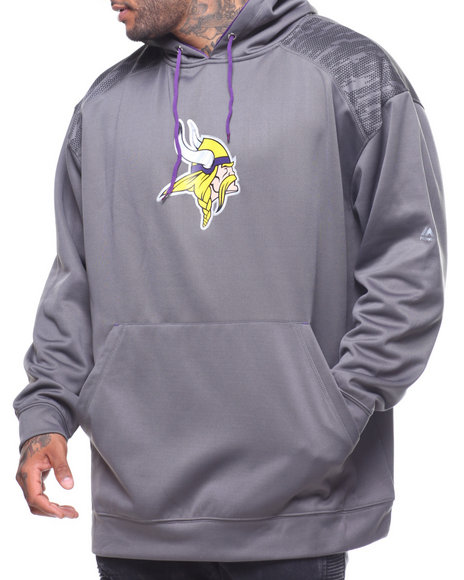 Champion - L/S Vikings Armor 2 Pullover Hoodie (B&T)