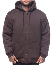 Outerwear - L/S Thermal Lined Heavy Duty Fleece Hoodie (B&T)